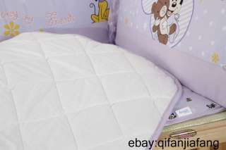 STUNNING DISNEY MICKEY MOUSE BABY CRIB 6PC COMFORTER IN A BAG
