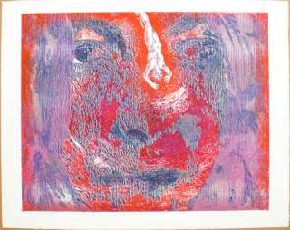 American Pop Art Signed Numbered Serigraph Print 1970s