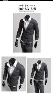 MENS CASUAL STYLISH DOUBLE BREAST SWEATER KNITWEAR CARDIGAN FREE SHIP