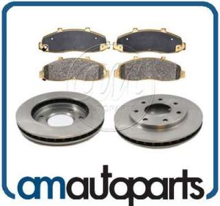 Ford Truck 4WD 4x4 Front Disc Brake Pad & Rotor Kit Set