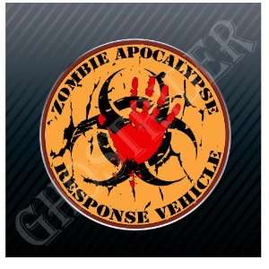 Zombie Apocalypse Response Team Red Car Trucks Sticker
