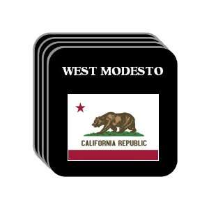 US State Flag   WEST MODESTO, California (CA) Set of 4 Mini Mousepad