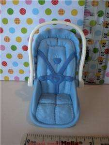 Fisher Price Loving Family Dollhouse Baby Boys Car Seat Blue