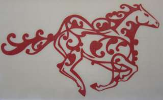 Med Red Cowboy Tribal Tattoo Horse Sticker Decal