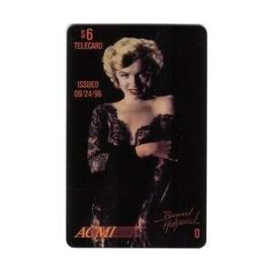 Marilyn Collectible Phone Card $6. Marilyn Monroe (Black Lace Dress