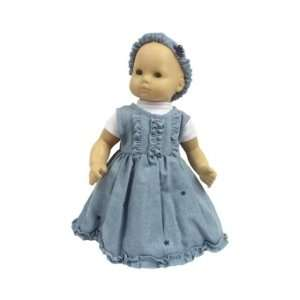 American Girl Doll Clothes Denim Dress for Bitty Baby Toys & Games