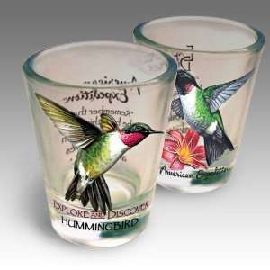 Hummingbird Shot Glass Set: Kitchen & Dining