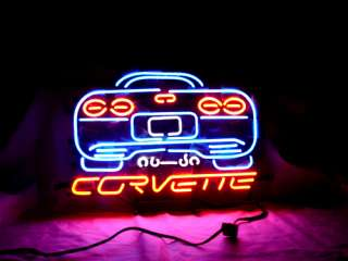 CORVETTE CHEVROLET AUTO BEER BAR NEON LIGHT SIGN me215