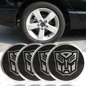 55mm 4PCS Transformer Autobot Wheel Center Cap Sticker