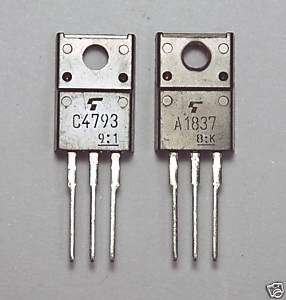 pair PNP NPN Complement Transistor 2SA1837 2SC4793