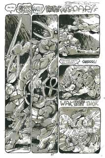 Teenage Mutant Ninja Turtles TMNT Issue 32 pg 31 Original art Kevin