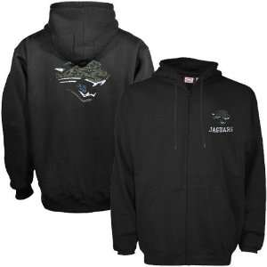 Jacksonville Jaguars Black Touchback Full Zip Hoody