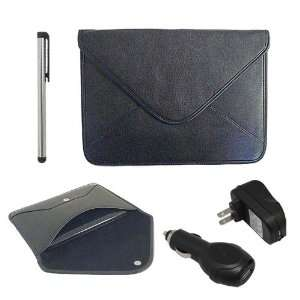 Premium 10 Envelope Leather Case Black + Touch Screen