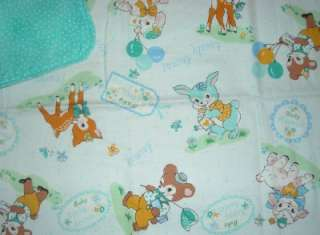 HANDMADE Spring Animals Japanese Deer Lamb Bunny Bear Baby Burp Cloth