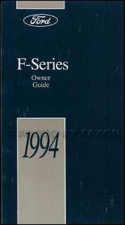 1994 Ford Truck Owners Manual NEW F150 F250 F350 Super Duty Pickup 94