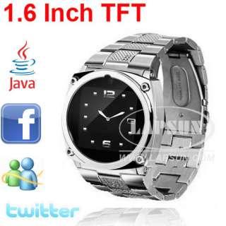 touch screen hidden camera watch phone tw818 support java facebook