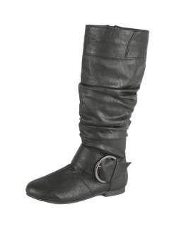 ELEGANT Baby 12 Womens Flat bottom mid calf boots
