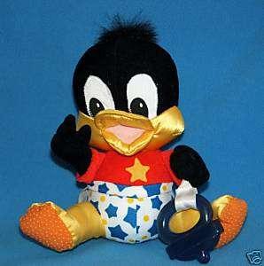 BABY DAFFY DUCK Teether Looney Tunes Stars Plush Stuffed Baby Toy #J