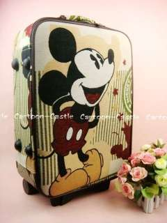 Mickey Mouse Luggage Bag Baggage Trolley Roller Set 192