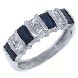 DIAMOND RING WEDDING BAND 1.53 CARAT BAGUETTE SQUARE CUT WG