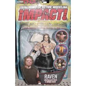 TNA Wrestling Series 3 Action Figure Raven Toys & Games