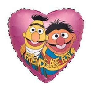 Bert and Ernie Friends Are Fun Heart Shaped Balloon [Toy