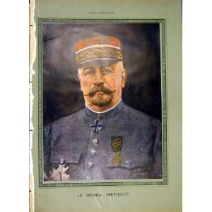 Portrait General Berthelot Military French Print 1919