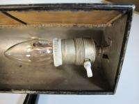 ANTIQUE ART DECO CAST IRON BANKER DESK TABLE LAMP