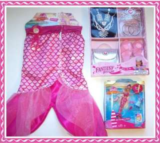 BARBIE MERMAID Tale Merliah Costume Dress Up Set Doll