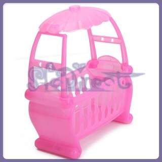 PRINCESS Pink UNIQUE lotus leaf Shape Dollhouse Canopy Baby Cot for