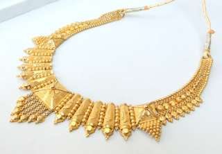ETHNIC TRIBAL SOLID 22 CARAT GOLD NECKLACE TAMIL NADU SOUTH IND