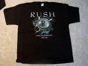 RUSH TIME MACHINE TOUR SHIRT LIGHTNING *NEW* MEDIUM