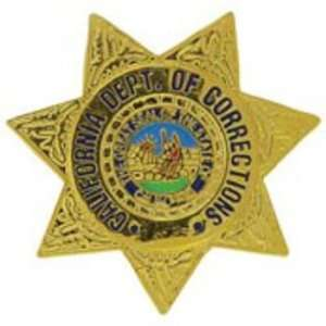 California Department of Corrections Badge Pin 1 Arts