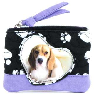 Paw Print Basset Hound Dog Coin Purse Handbag Tote Bag
