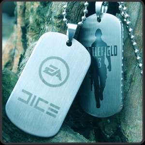 Battlefield 3 Dog Tag Pendant Necklace   Two Side