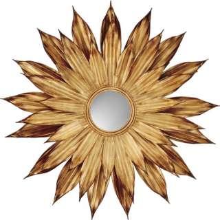 Large Gold & Bronze FLOWER PETALS Sun Burst WALL Mantle MIRROR 48