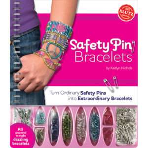 SAFETY PIN BRACELETS KLUTZ MAKE YOUR OWN JEWELRY KIT
