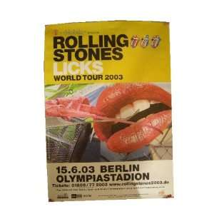 The Rolling Stones Poster Tour Berlin 2003 Concert