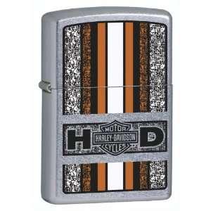 Zippo Harley Davidson Tilted Emblem Lighter (Black, 5 1/2