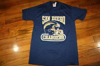 NOS vtg 80s SAN DIEGO CHARGERS shirt *SOFT THIN