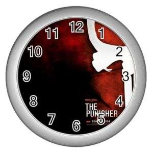 The Punisher Skull Mask Wall Clock Silver GIFT DECOR C