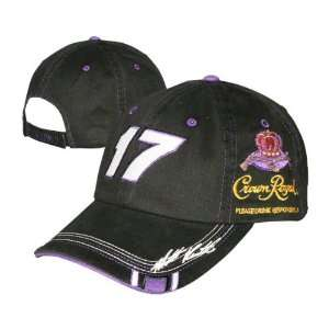 Matt Kenseth #17 Crown Royal Black Out Adjustable Hat