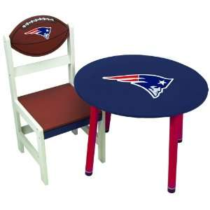 New England Patriots Wooden Team Table
