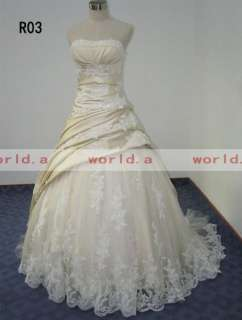 Taffeta and Satin and Soft Tulle Wedding Dress/Bridal Gown New Custom