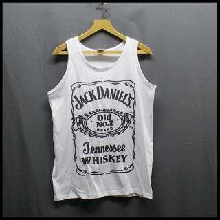 jack daniels rock festival t shirt vest top white s xxl