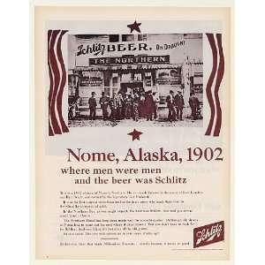 Beer Nome Alaska 1902 Northern Hotel Print Ad (47531)