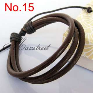 Fashion Hemp Leather Braided Bracelet Wristband Cool