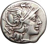 Roman Republic 151BC Pub. Sulla Authentic Ancient Silver Coin ROMA