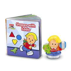 Fisher Price Little People Shapes w/Eddie Book & Figure