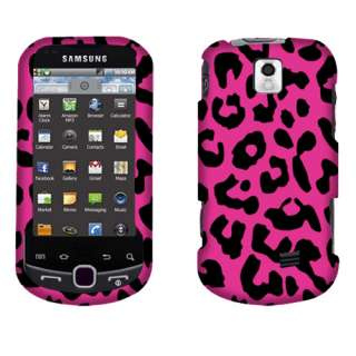 Samsung M910 Intercept Leopard Hot Pink 2D Texture Hard Case Cover